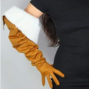 Tan Soft Plush Gloves